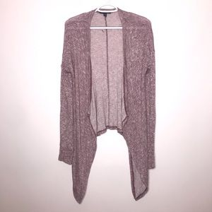 American Eagle | Pink Open Front Drape Cardigan